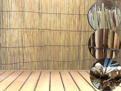 Natural Handmade Bamboo Thick Fence Reed Garden Backyard Screen Privacy 4M Roll