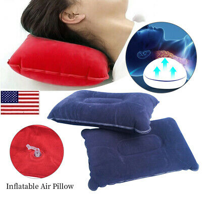 Outdoor Travel Comfortable Inflatable Air Pillow Cushion Protect Head Neck JR15