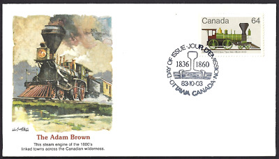 Canada  # 1002   Fleetwood Locomotive -  Adam Brown Cover  New 1983 Unaddressed