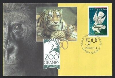 Canada  S57   Special Event Cover   The Granby Zoo    New Issue 2003 Unaddressed