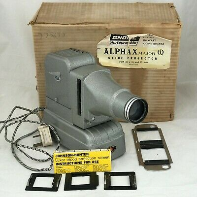 Gnome Alphax Major Slide Projector  Not Fully Tested