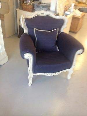 French Vintage Rococo Armchair & Cushion,Chair,Kent Furniture Showroom
