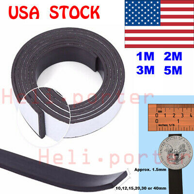 3M Self Adhesive Magnetic Tape Magnet Strip 12.7mm 1//2 Inch Wide