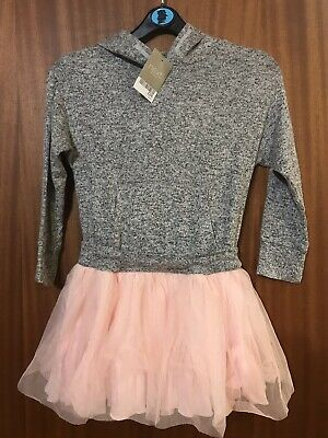 NEXT Girls 5 years Pink & Grey Tutu Hoodie