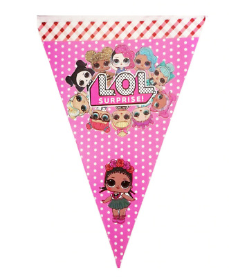 LOL SURPRISE DOLLS  Banner Kids Birthday Party Decoration Flags