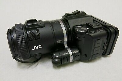 JVC HD Memory Camcorder GC-PX100BU WiFi with battery and AC Adapter Tested Works