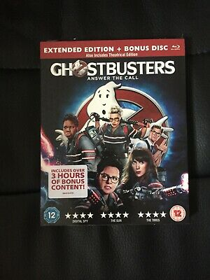 Ghostbusters 2016 Blu Ray Extended Edition with collector sleeve