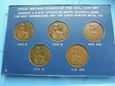 Set of Heaton/Kings Norton Penny's, 1912H 1918H 1919H 1918KN & 1919KN, cased.