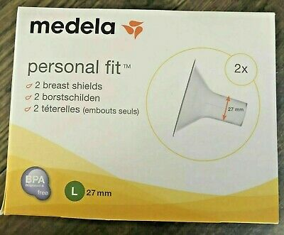 Medela Personal Fit Breast Shields X2 - Large 27mm. Free P&P