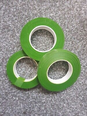 Brand New 3 x Florist Green Stem Tape 12mm