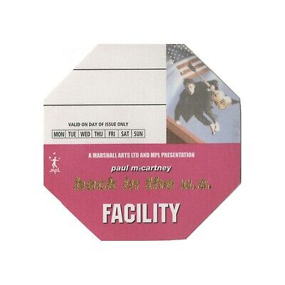Paul McCartney Pink Facility Backstage Pass 2003 Back in the U.S. Tour
