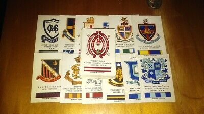 Vintage Australian School/College Cigarette Cards X 41