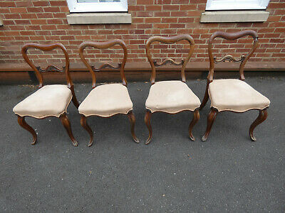 Antique Victorian dining chairs x 4