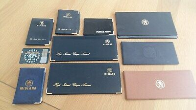 9 Vintage Cheque Book & Card Holders, Mainly Midland Bank