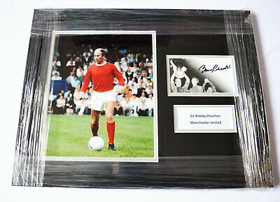 Framed Bobby Charlton Man Utd Hand Signed Photo Display Autograph Manchester