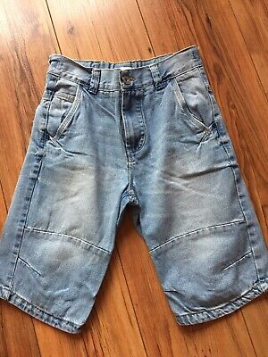 Boys Next  Blue Denim Adjustable Waist Panelled Jean Shorts Age 11 Years