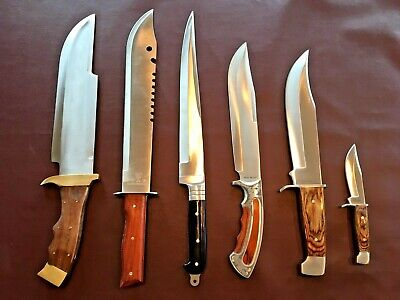 BIG BOWIE FULL TANG FIXED BLADE KNIFE (lot of 5) KHYBER BOWIE NEW LEATHER SHEATH