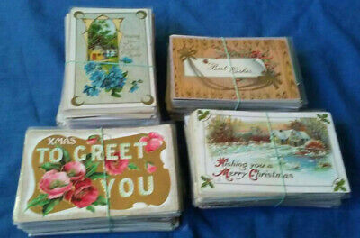 Lot of 1000 Assorted Vintage Greeting and Holiday Postcards