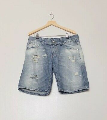 Miss Sixty Blue Denim Distressed Shorts W26