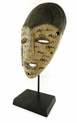 Lega Mask White Face Lines Congo African Art SALE WAS $550.00