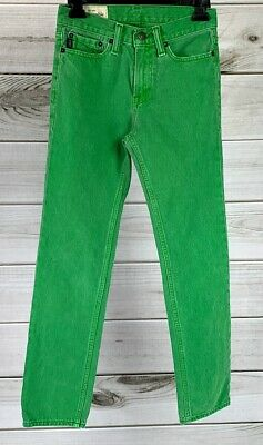 Abercrombie & Fitch AF Kids Skinny Jeans Green Size 14 Slim Fit EUC A5208