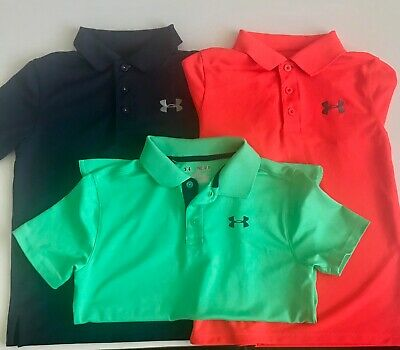 6e500757 BOYS YMD YOUTH Medium Striped Under Armour Polo Shirt - $8.99 | PicClick