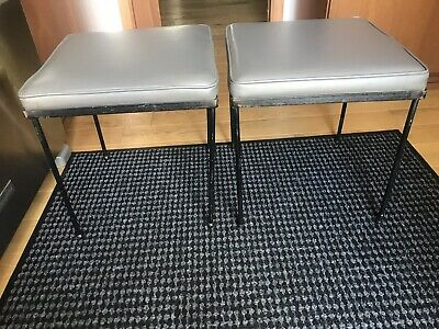 Two Frederick Weinberg Iron Stool Danish Modern Mid Century Modern McCobb Eames