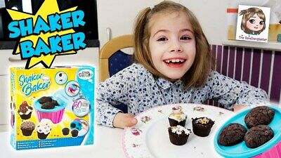 Shaker Baker The Kids 50 Second Cupcake Maker Age 5+ Children Creative Toys