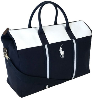 812ae725c9 Ralph Lauren Polo Weekend Hand Bag Weekender blue white duffle father's day  gif