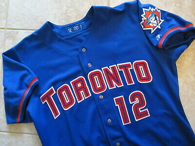 7b317f815 Authentic 2000 Toronto BLUE JAYS Majestic Game Used Worn Alt Jersey 48