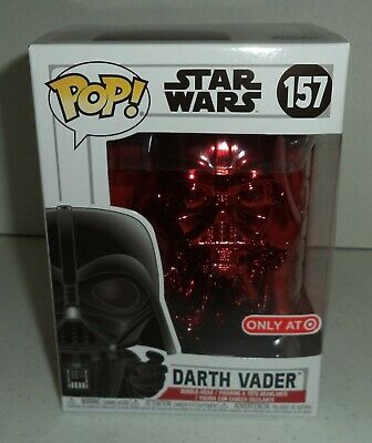 Funko POP! Star Wars, Darth Vader [Red Chrome] #157 Target Exclusive