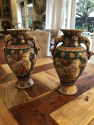 antique Chine Urns (pair) STAMPED