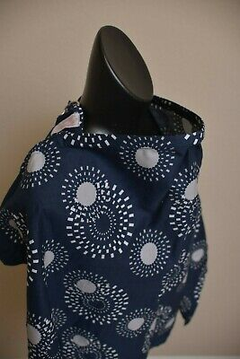 Udder Covers Breast Feeding Nursing Cover Blanket Baby Mum Navy Blue Circles