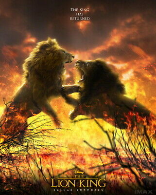 """006 The Lion King - Simba 2019 Hot Movie 14""""x17"""" Poster"""