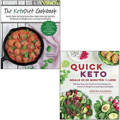Martina Slajerova 2 Books Collection Set,The KetoDiet Cookbook,Quick Keto Meals