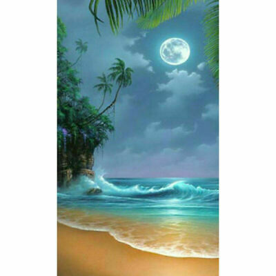 Summer Seaside 5D Full Drill Diamond Painting Embroidery Kit Wall Decor AU Stock