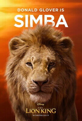 """014 The Lion King - Simba 2019 Hot Movie 24""""x35"""" Poster"""