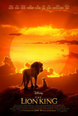 """007 The Lion King - Simba 2019 Hot Movie 24""""x35"""" Poster"""