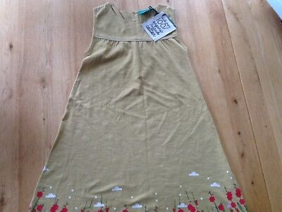 Girls Printed Cotton Jersey Dress by Little Green Radicals 7-8 years