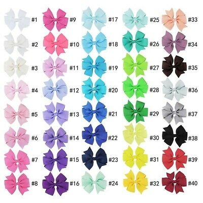 Kids Girls Gift Children Toddler Flowers Hair Clip Bow Accessories Hairpin 40pcs
