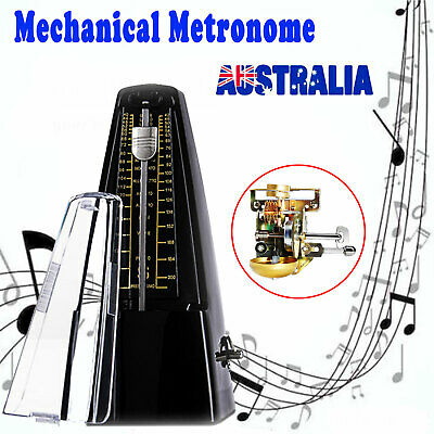 Traditional Mechanical Metronome for Piano Guitar Square Wind Up Metronome Black