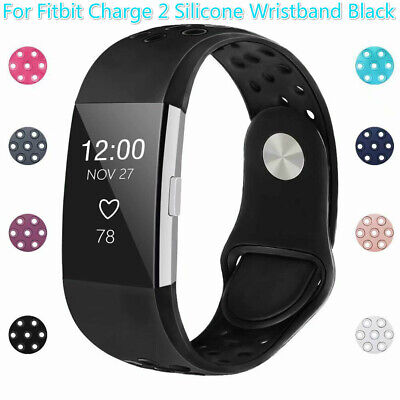 For Fitbit Charge 2 Replacement Silicone Watch Wrist Sports Band Strap Wristband