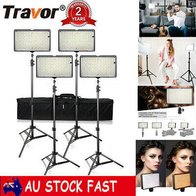 Travor TL-160S  Dimmable LED Video Lights Photography Lighting Stand 4PACK / Set