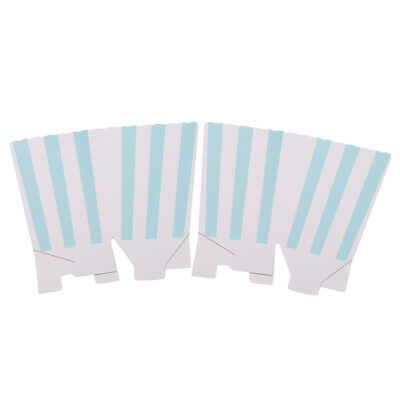 Striped Cinema Popcorn Boxes for Wedding Favours Sweets Candy Popcorn J
