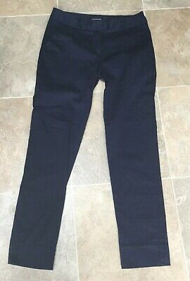 15e6d8aaf9 Warehouse Ladies Navy Blue Cotton Blend Cropped Chinos/Capri Trousers UK  Size 8