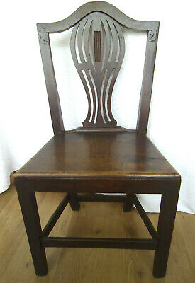 Hepplewhite Georgian Oak Country dining chair - 18th Century handmade chair