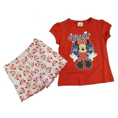 Disney Minnie Mouse Short Girls Pyjama Sizes from 4 to 8 years