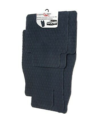 BMW 7 Series Saloon E65/E66 Tailored Quality Black Rubber Car Mats 2002-2007