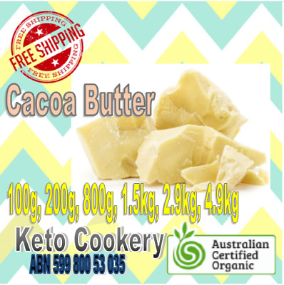 BEST PRICE! EXPRESS; ORGANIC Cacao Cocoa Butter 100g,200g,800g,1.5 kg,2.9kg4.9kg