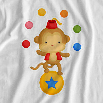 Amazing Circus | Monkey | Iron On T-Shirt Transfer Print